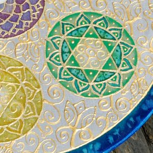 Chakra, silk, painting, mandala, art, sunshine, sunshine art