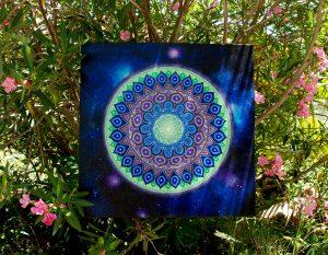 Galaxy Mandala, painting, mandala, art, sunshine, sunshine art