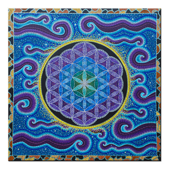 Flower of Life, painting, mandala, art, sunshine, sunshine art