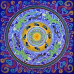 painting, mandala, art, sunshine, sunshine art