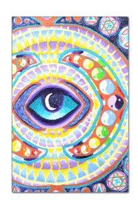 Opening of the Third Eye Chakra, painting, mandala, art, sunshine, sunshine art