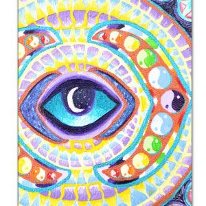 Opening of the Third Eye Chakra, painting, mandala, art, sunshine, sunshine art