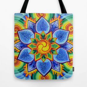 Strength, bag, painting, mandala, art, sunshine, sunshine art