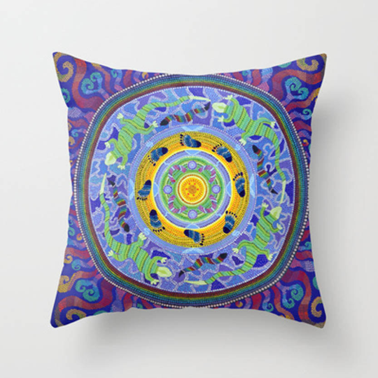 Family, cushion, painting, mandala, art, sunshine, sunshine art