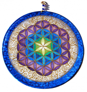 Flower of Life, Silk, painting, mandala, art, sunshine, sunshine art