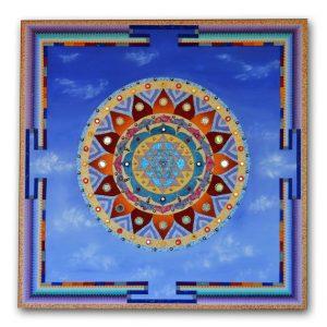 Sri Yantra Mandala, painting, mandala, art, sunshine, sunshine art