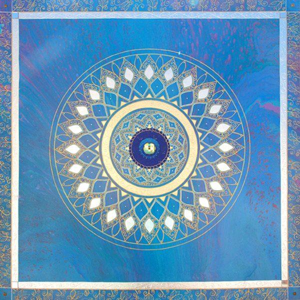 A Taste of Summer Mandala, painting, mandala, art, sunshine, sunshine art