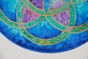 Seed of Life, Silk, painting, mandala, art, sunshine, sunshine art