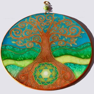 Tree of Life, silk, painting, mandala, art, sunshine, sunshine art