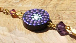 Handmade Hair Feather Clip, Purple Goose Feather, painting, mandala, art, sunshine, sunshine art