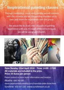Inspirational Painting Workshops, Events, painting, mandala, art, sunshine, sunshine art