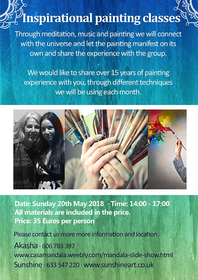 Inspirational Painting Workshops, Events, painting, mandala, art, sunshine, sunshine art