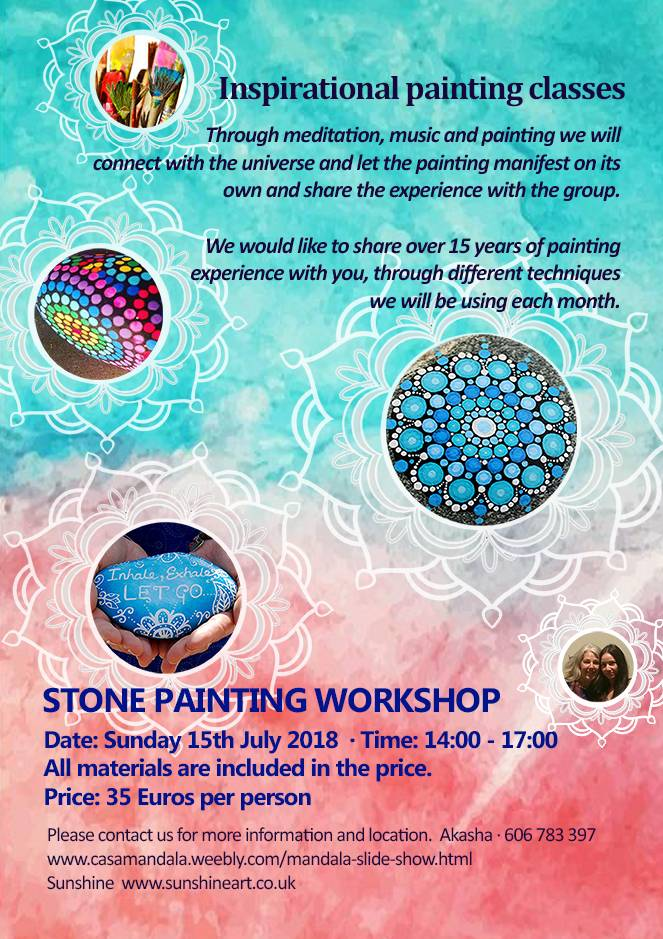 Pebble Painting Workshop, , Events, painting, mandala, art, sunshine, sunshine art