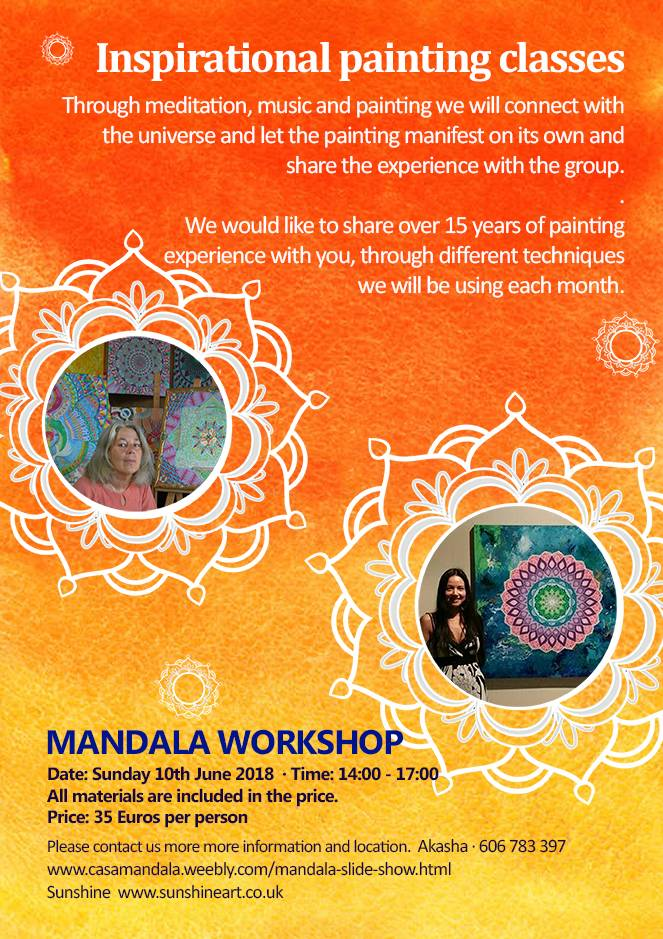 Mandala Workshops, Events, painting, mandala, art, sunshine, sunshine art