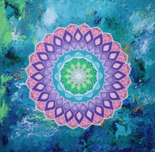 Agua, painting, mandala, art, sunshine, sunshine art
