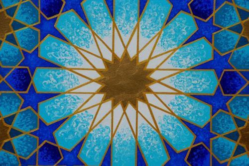 Morrocan Blue centre close up