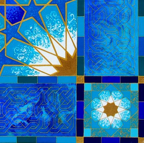 Morrocan Blue corner detail
