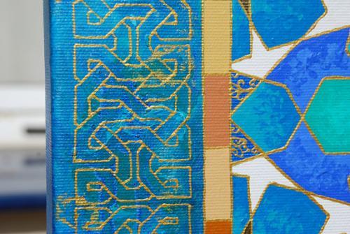 Shades of blue close up